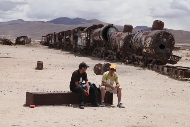 Salar de Uyuni'deki tren mezarlığı