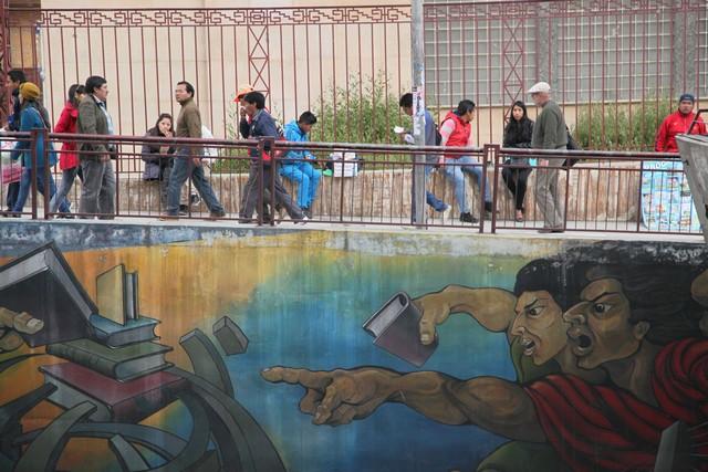 Bolivyalılar grafitileri seviyorlar.